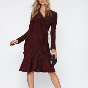 Dressed to impress glitter dress from Nasty Gal.
